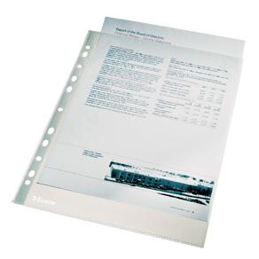 Plastficka ESSELTE A4, 0,11, Klar, 100st