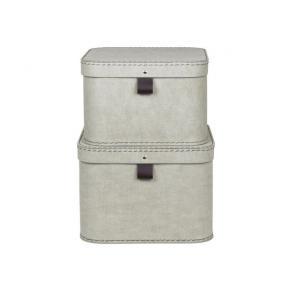 Förvaringsbox m.lock kartong linne 2/FP
