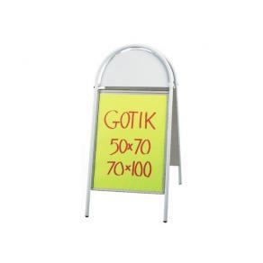 Gatuställ Gotik Vit, 50x70cm