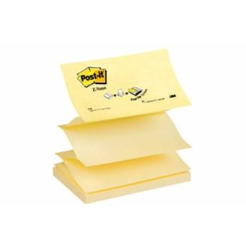 Post-It Z-block Gul, 76x127mm, 12st 12st