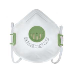 Andningsskydd FFP3 med grön ventil 10/F