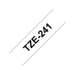 Märkband Brother TZe241, svart/vit, 18mm