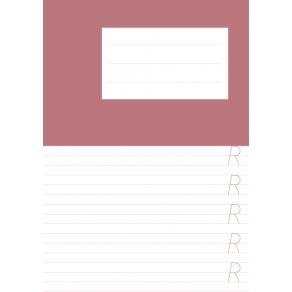 Skrivhäfte A5 Aa-Öö rosa