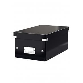 Förvaringslåda DVD Click & Store Svart, 206x147x352mm