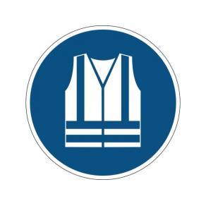 Varseldekal Använd varselkläder