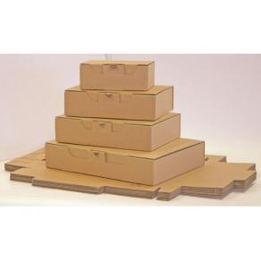 Kartong med förslutningslock, 430x300x180mm, brun, 25st