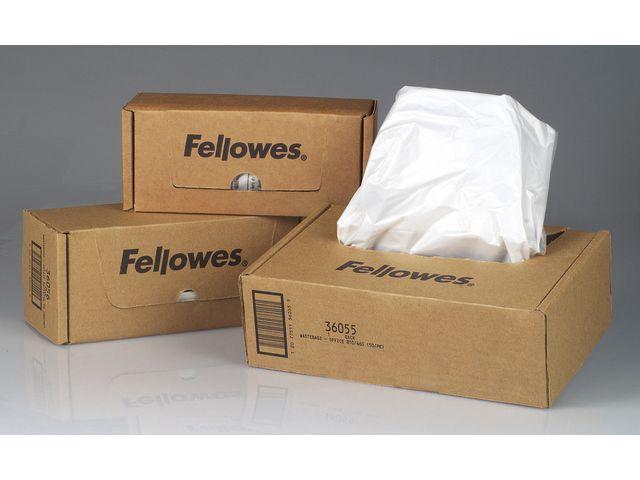 Avfallssäckar Dokumentförstörare FELLOWES Plast 38L, 100/fp