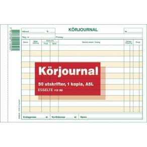 Körjournal A5 Liggande med kopia, 2x50 blad, 5st