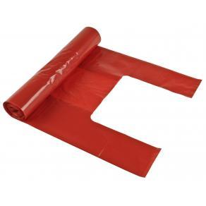 Soppåse handtag 30L 35my röd, 100% recycle, 25/rl