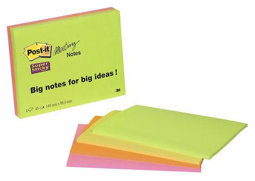 Post-It Supersticky Meeting Notes, 149x98mm, 4st
