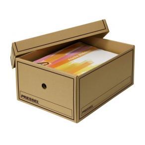 Arkivbox med lock A4 350x255x155mm, Brun, 10st