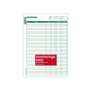 Inventeringslista A4, 50 blad