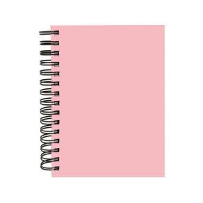 Anteckningsbok Burde A5, rosa, linjerad, spiral