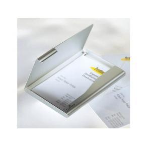 Visitkortsask Aluminium, för 20 kort