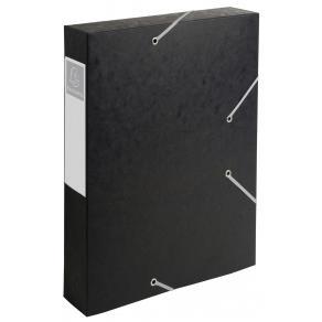 Dokumentbox A4 papp 60mm svart