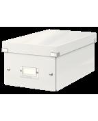 Förvaringslåda DVD Click & Store Vit, 206x147x352mm