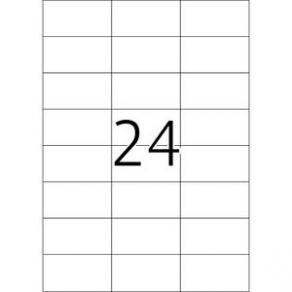 Etiketter HERMA Transparenta, 70x37mm, 24 per sida, 600/fp