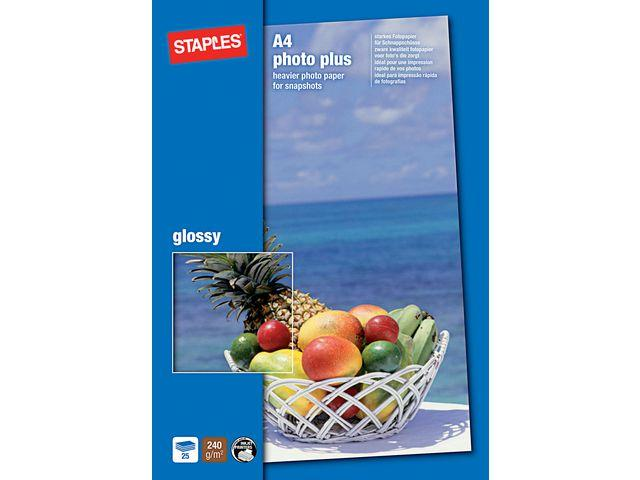 Fotopapper STAPLES Prem A4 glossy 25/FP