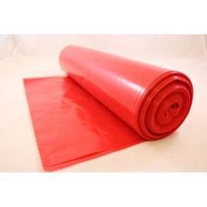 Plastsäck optisk 125L 50my röd 25/RL