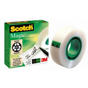 Dokumenttejp Scotch Magic 810, osynlig, 19mm x 33m