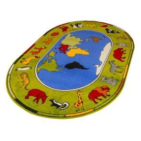 Matta världens djur 200x300cm