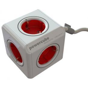 Grenuttag Powercube Röd, 5-vägs, 1,5m kabel