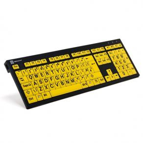 Largeprint Nero for PC, Slim line, Black on Yellow+lamp