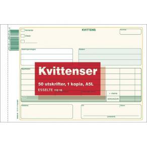 Kvittens A5 Liggande med kopia, 2x50 blad