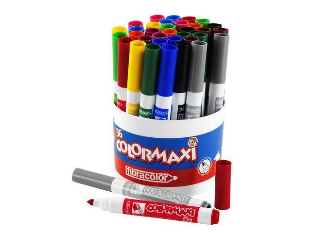 Fiberpenna Colormaxi, 3x12 färger