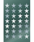 Stickers stjärnor silver 56/fp