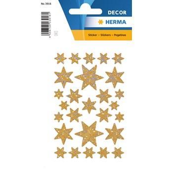 Herma stickers Decor stjärna guld (3) 10st