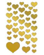 Stickers hjärtan guld 76/fp