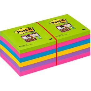 Post-It Supersticky Rainbow, 76x76mm, 12st