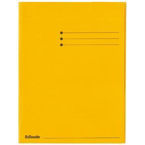 Kartongmapp A4 3-klaff Rainbow gul