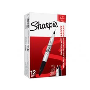 Sharpie Twin Tip EF/F svart