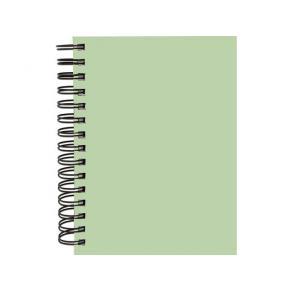 Anteckningsbok Burde A5, grön, linjerad, spiral
