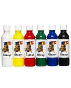 Glasyr färg för lera   250 ml x 6 färger