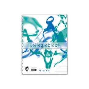 Kollegieblock A5, linjerat, 70g