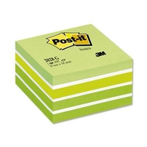 Post-It Kub Fresh Green, 76x76mm, 450 blad