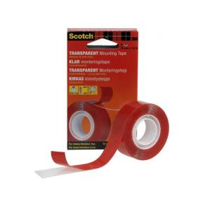 Monteringstejp SCOTCH super transparent, 1,5m x 19mm