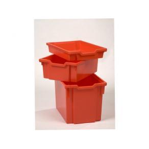 Förvaringsback Låg Röd, 312x75x427mm