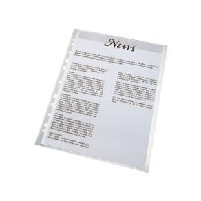 Plastficka ESSELTE A4, 0,11, präglad, 100st