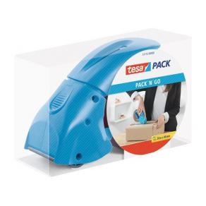 Packtejpshållare TESA Pack n Go blå, 38-50mm