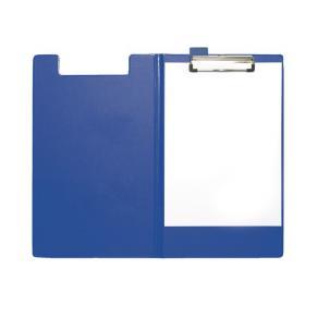 Skrivplatta 235x340mm med klämma och omslag blå