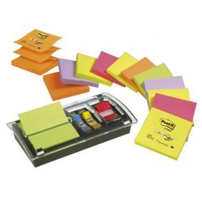 Notes POST-IT Z-block+hållare Plexi12/F