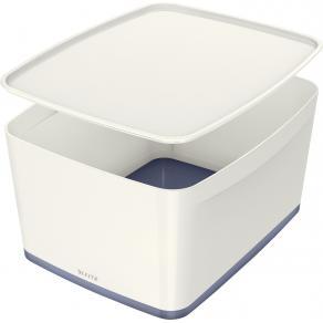 Förvaringslåda MyBox L vit/grå