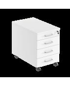 Hurts mobil 4 lådig inkl pennfacklåda 420x600x550 vit/vit