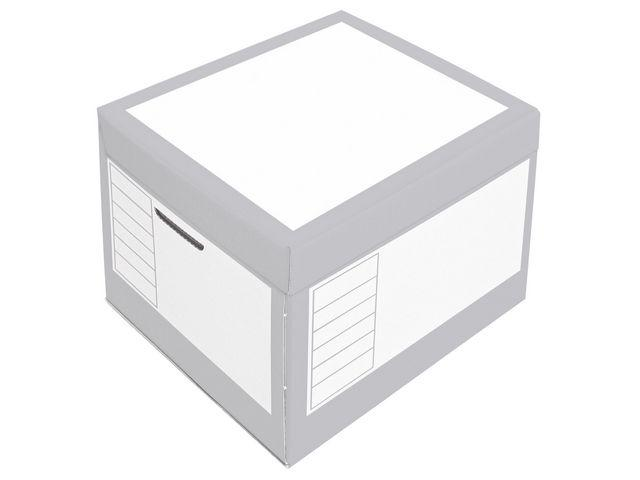 Arkivbox med lock 390x330x290mm, Grå, 10st