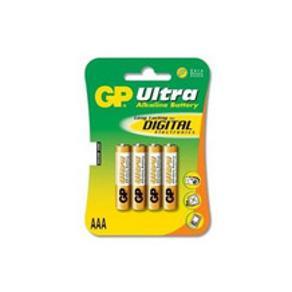 Batteri GP Ultra Alkaline LR03/AAA, 1,5V, 4/fp