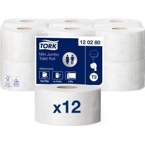 Toalettpapper TORK Jumbo Advanced T2 170m/rl 12/FP